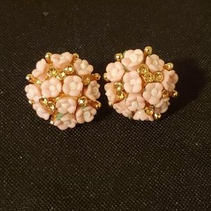 Betsey Johnson Bouquet Of Flowers Earrings